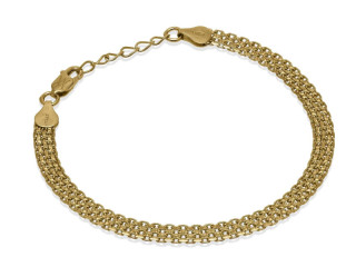 Classic Bismark Chain Bracelet with Design (Gold Plated) 5.5 mm